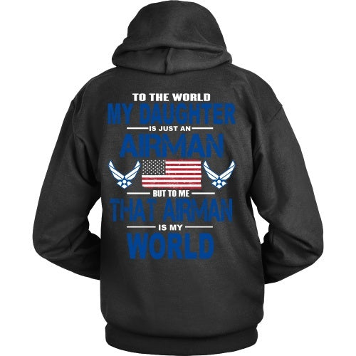 T-shirt - AIRFORCE - Daughter Is My World - Back Design