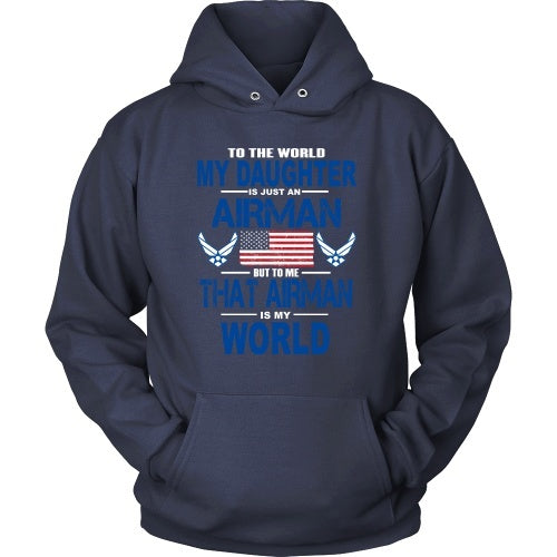 T-shirt - AIRFORCE - Daughter Is My World - Front Design