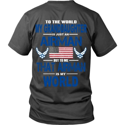 T-shirt - AIRFORCE - Granddaughter Is My World - Back Design