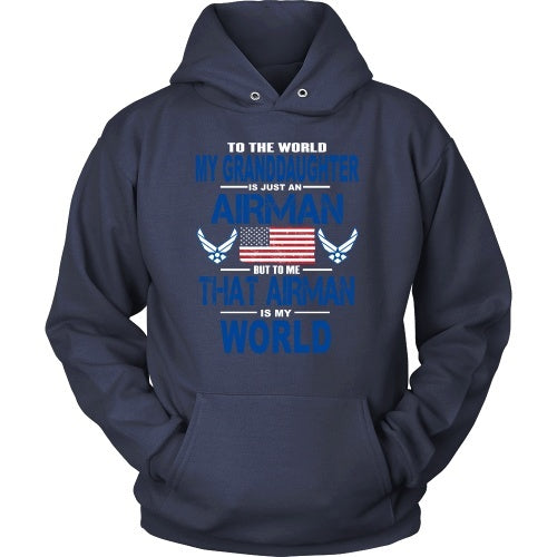 T-shirt - AIRFORCE - Granddaughter Is My World - Front Design