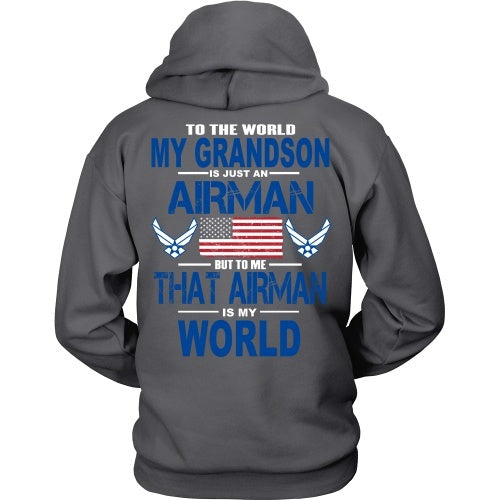 T-shirt - AIRFORCE - Grandson Is My World - Back Design