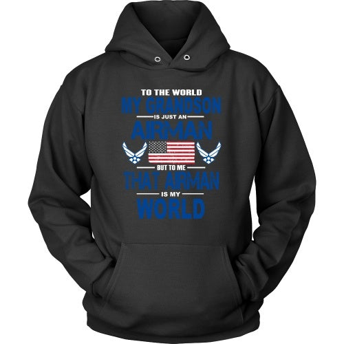 T-shirt - AIRFORCE - Grandson Is My World - Front Design