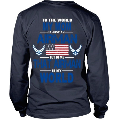 T-shirt - AIRFORCE - Mom Is My World - Back Design