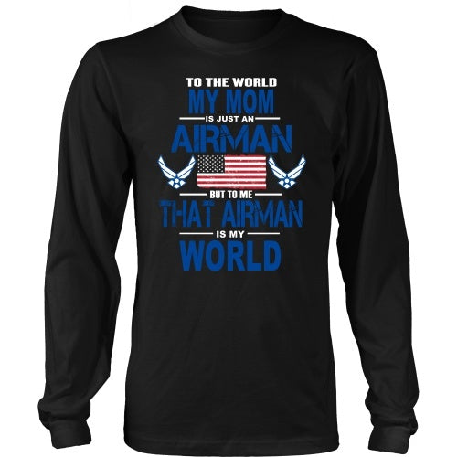 T-shirt - AIRFORCE - Mom Is My World - Front Design