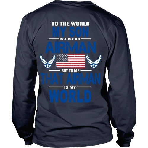 T-shirt - AIRFORCE - My Son Is My World - Back Design