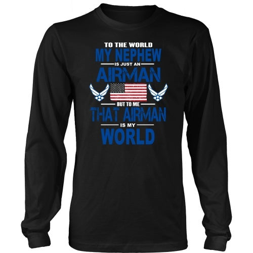 T-shirt - AIRFORCE - Nephew Is My World - Front Design