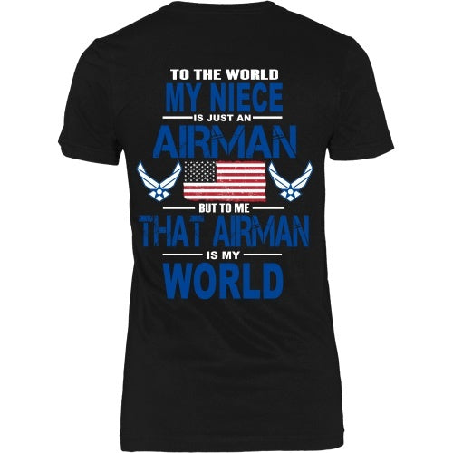T-shirt - AIRFORCE - Niece Is My World - Back Design