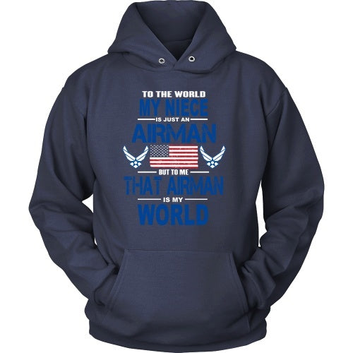T-shirt - AIRFORCE - Niece Is My World - Front Design