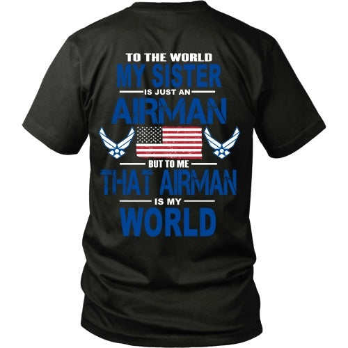 6b502e5fd7b8a T-shirt - AIRFORCE - Sister Is My World - Back Design