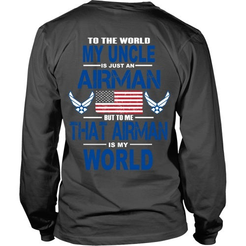 T-shirt - AIRFORCE - Uncle Is My World - Back Design