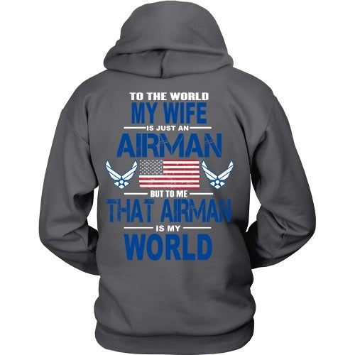 T-shirt - AIRFORCE - Wife Is My World - Back Design