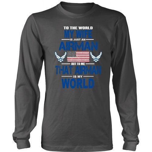 T-shirt - AIRFORCE - Wife Is My World - Front Design