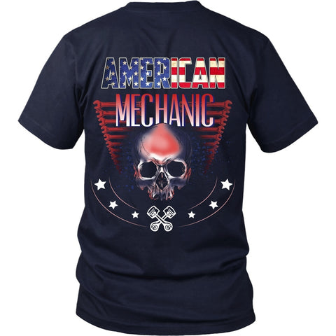 T-shirt - American Mechanic - Back Design