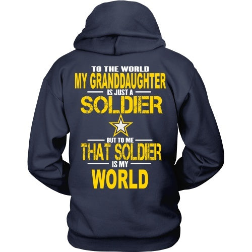T-shirt - Army - Grandaughter Is My World - Back Design