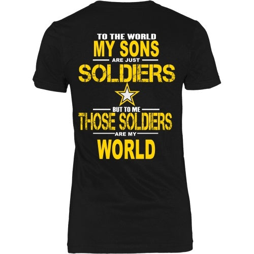 T-shirt - Army - My Sons Are My World - Back Design