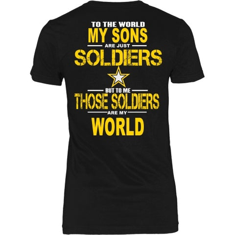 T-shirt - Army Sons Are My World - Back Design