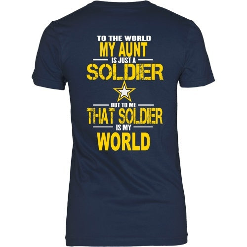 T-shirt - Army-To The World My Aunt Is A Soldier - Back