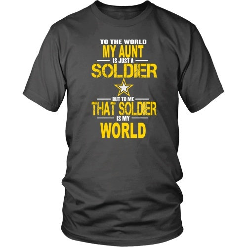 T-shirt - Army-To The World My Aunt Is A Soldier - Front