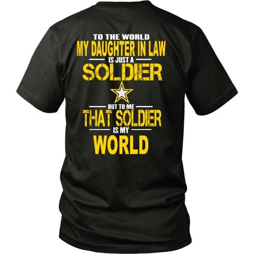 T-shirt - Army-To The World My Daughter In Law Is A Soldier - Back