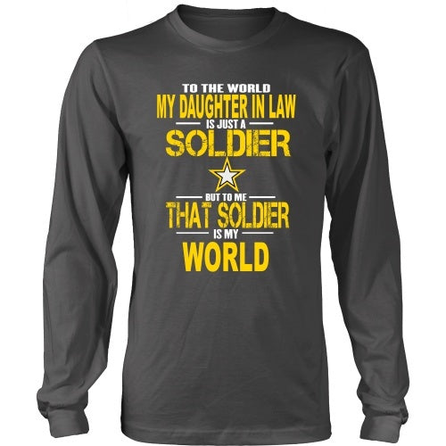 T-shirt - Army-To The World My Daughter In Law Is A Soldier - Front