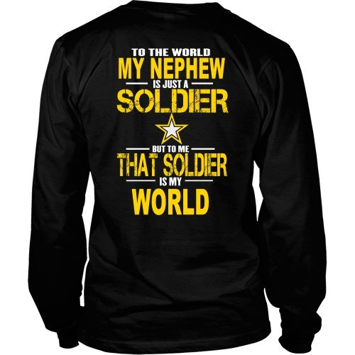 T-shirt - Army-To The World My Nephew Is A Soldier - Back