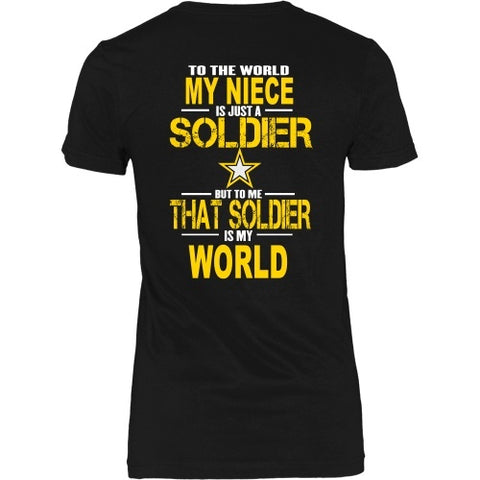 T-shirt - Army-To The World My Niece Is A Soldier - Back