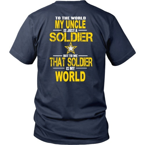 T-shirt - Army-To The World My Uncle Is A Soldier - Back