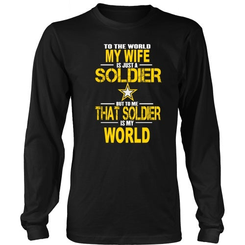 T-shirt - Army-To The World My Wife Is A Soldier