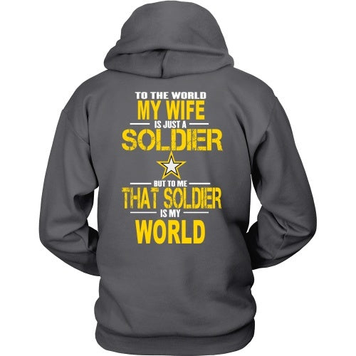 T-shirt - Army-To The World My Wife Is A Soldier - Back