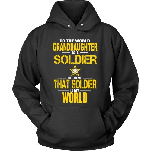 T-shirt - Army - To The World Mygranddaughter Is A Soldier - Front