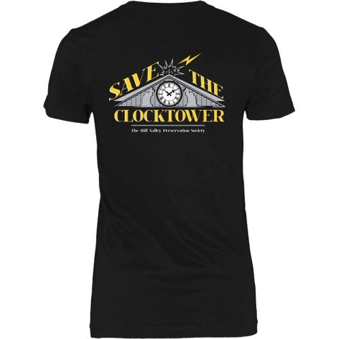 T-shirt - BACK TO THE FUTURE - Save The Clocktower Tee - Back Design
