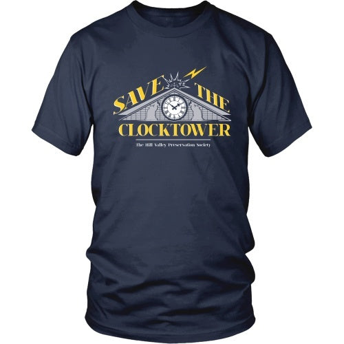 T-shirt - BACK TO THE FUTURE - Save The Clocktower Tee - Front Design