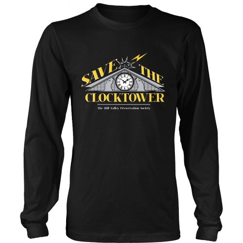 5fc108d2 ... T-shirt - BACK TO THE FUTURE - Save The Clocktower Tee - Front Design  ...