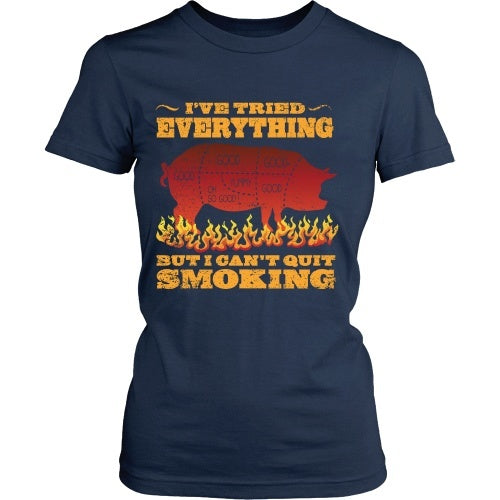 T-shirt - Barbeque - I Can't Quit Smoking - Front