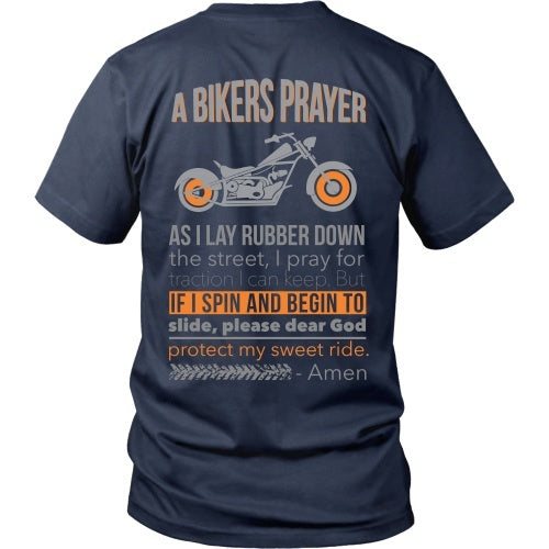 T-shirt - Bikers Prayer - Back Design