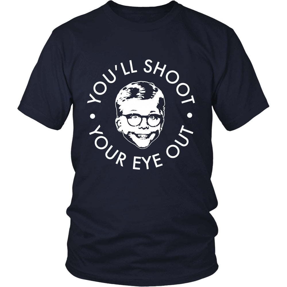 T-shirt - Christmas Story - You'll Shoot Your Eye Out - Front Design