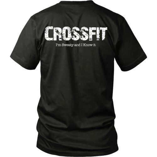 T-shirt - Crossfit Tee - Sweaty And I Know It - Back