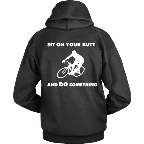 T-shirt - Cycling Tee - Sit On Your Butt And Do Something-Back