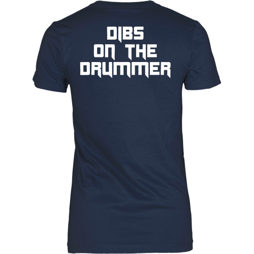 T-shirt - Dibs On The Drummer Tee - Back