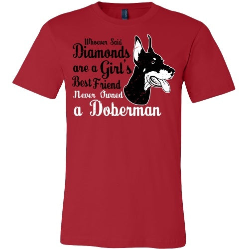 T-shirt - Doberman'-  A Girl's Best Friend - Front