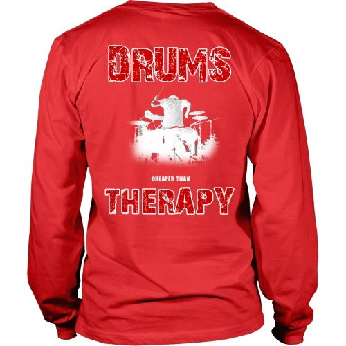 T-shirt - Drums - Better Than Therapy-Back