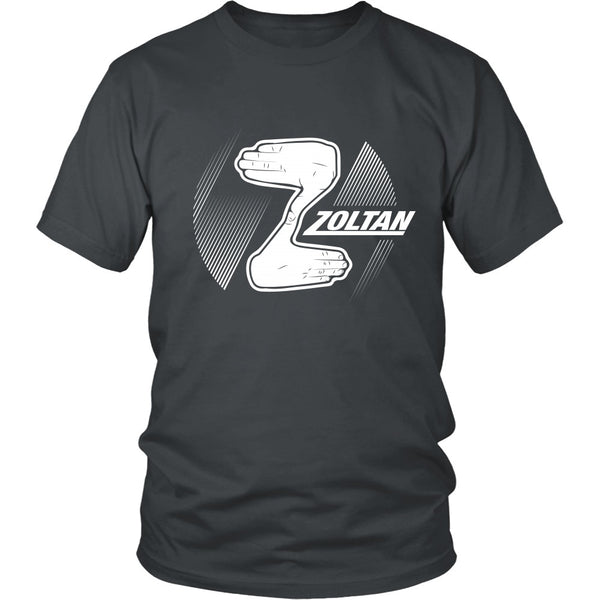 T-shirt - Dude, Where's My Car - Zoltan (B) - Front Design