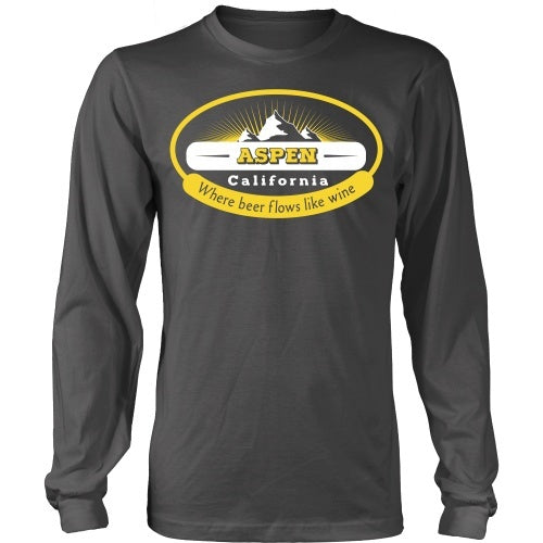 T-shirt - Dumb And Dumber -Aspen CA - Where The Beer Flows Like Wine -Front Design