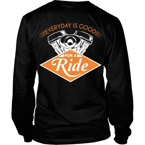 T-shirt - Every Day Is Good For A Ride - Back Design