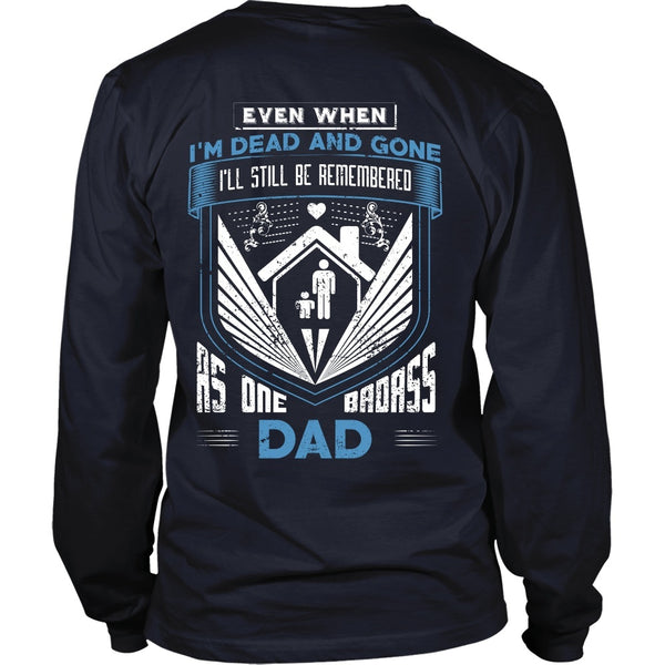 T-shirt - Family - Badass Dad - Family - Back Design