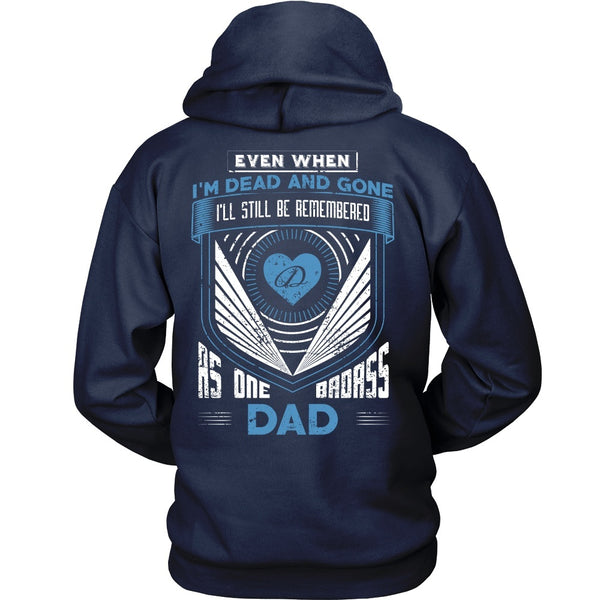 T-shirt - Family - Badass Dad - Heart - Back Design