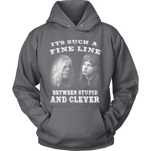T-shirt - Fine Line Between Stupid And Clever