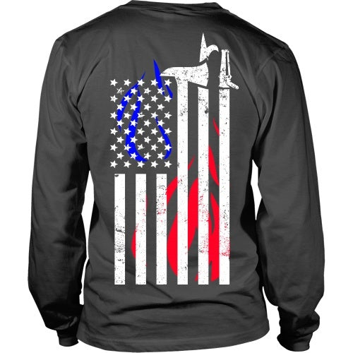 T-shirt - Firefighter Flag