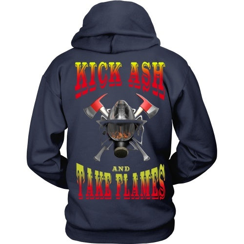 T-shirt - Firefighter - Kick Ash And Take Names - Back