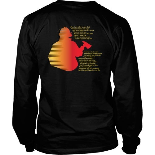 T-shirt - Firefighter Pray Final2 - Back